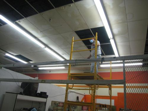 Ceiling Tile Removal
