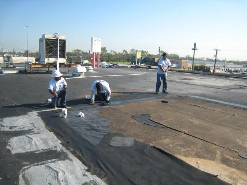 Roof Crewing Repair Work